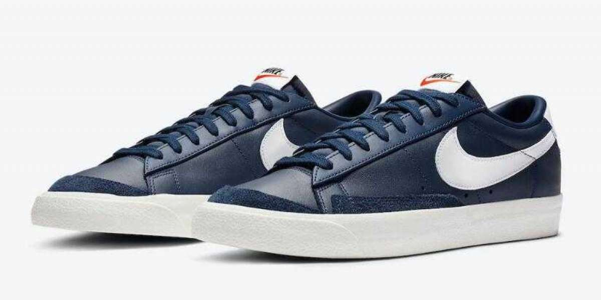 Nike Blazer Low '77 Vintage Coming With Midnight Navy White Colorway