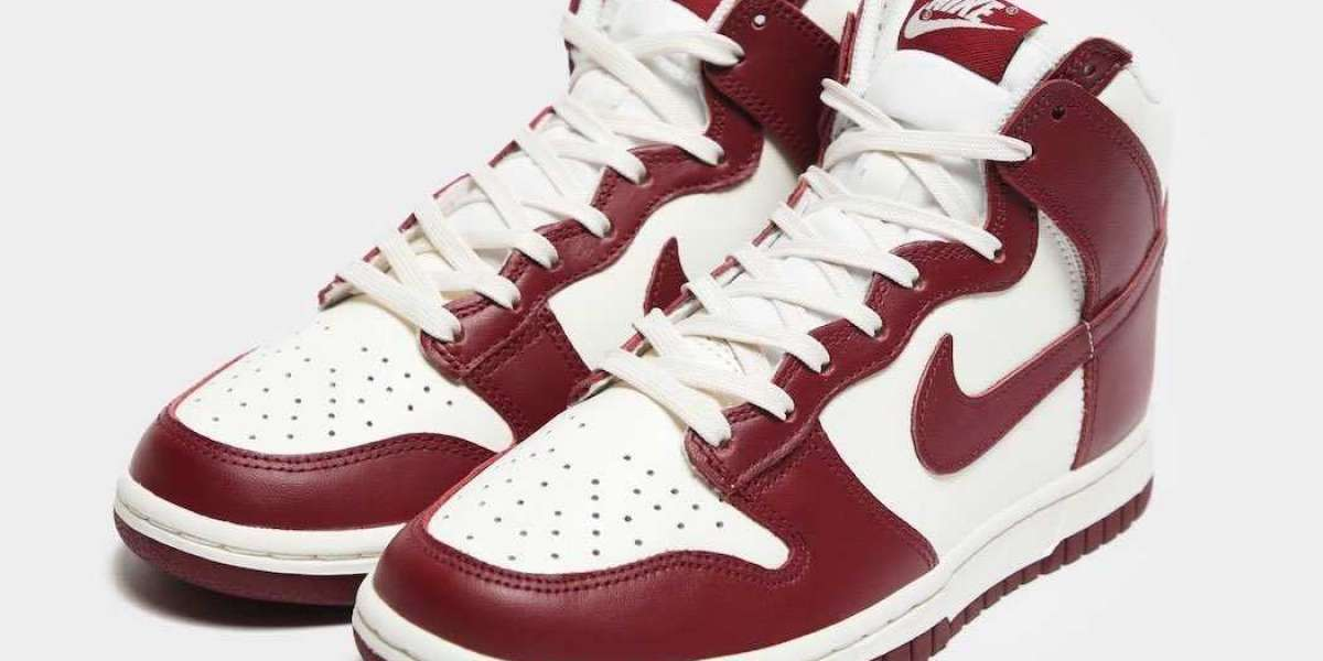 """DD1869-101 Nike Dunk High """"Team Red"""" will coming in 2021"""